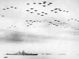 American Fighter Fly in Formation over the Uss Missouri During Surrender Ceremonies