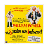 The Senator Was Indiscreet  from Left: Ella Raines  William Powell  1947