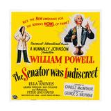 The Senator Was Indiscreet  from Left: Ella Raines  William Powell  1947