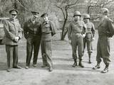 British and American World War 2 Commanders During a Visit by Winston Churchill