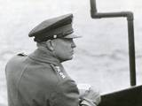 Gen Dwight Eisenhower Sailing to the Normandy Landing Site the Day after the D-Day Invasion