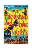 A Thousand and One Nights  Center: Cornel Wilde  Adele Jergens  Top Right: Phil Silvers  1945