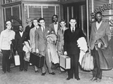 The First 'Freedom Riders' Holding Suitcases Outside the Office of Attorney SW Robinson