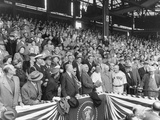 President Harry Truman About to Throw the First Ball at the 1951 of the Season at Griffith Stadium