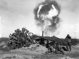 A 155mm Gun Fired by US Troops in the Nettuno Area of the Anzio Beachhead