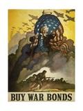 Buy War Bonds  World War 2 Poster of Uncle Sam