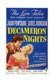 Decameron Nights  from Left: Louis Jourdan  Joan Fontaine  1953