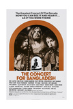 The Concert for Bangladesh  from Left: George Harrison  Leon Russell  Bob Dylan  1972