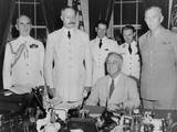 President Roosevelt Hosts French General Henri Giraud  of French Forces in Africa  July 1943