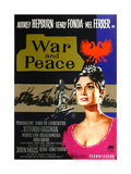 War and Peace  from Left: Mel Ferrer  Audrey Hepburn  1956