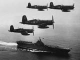 F4U's (Corsairs) Returning from a Combat Mission over North Korea to the USS Boxer