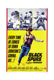 Black Spurs  Rory Calhoun  (Center)  1965