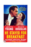 He Stayed for Breakfast  from Left: Melvyn Douglas  Loretta Young  1940