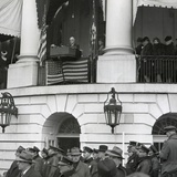 President Franklin Roosevelt at His Fourth Inauguration on Jan 20  1945