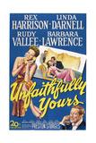 Unfaithfully Yours  Left: Linda Darnell  Bottom Right: Rex Harrison  1948