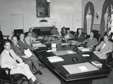 President Harry Truman with National Security Council  Aug 19  1948