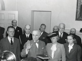 Vice-President Harry Truman Is Taking the Oath of Office  at 7:09 PM on April 12  1945