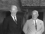 President Dwight Eisenhower and Soviet Premier Nikita Khrushchev  Sept 25  1959