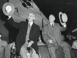 Victorious President Harry Truman and Vp-Elect Alben Barkley at Union Station