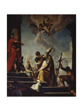 Saint Peregrinus Condemned to Martyrdom by Emperor Gallienus  1730