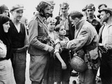 British Liberator of Greece  Pinning a British Band on the Arm of a Young Boy  Oct 24  1944