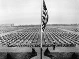 A Bugler Plays Taps on Memorial Day at Margraten Cemetery  Holland  May 30  1945