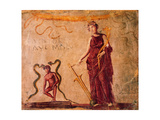 Isis Fortuna with Agathodemon Snakes  C45-79