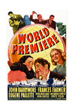 World Premiere  Bottom L-R: Virignia Dale  John Barrymore  Frances Farmer  1941