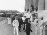Eleanor Roosevelt at the 38th Annual Conference of the NAACP at Lincoln Memorial