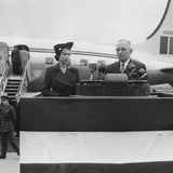 President Harry Truman Welcomes Princess Elizabeth at Washington's National Airport  Oct 31  195l