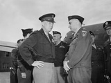 Generals Dwight Eisenhower and Lucius Clay at Gatow Airport in Berlin