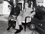 President Franklin Roosevelt Photographed with French General Henri Honore Giraud  Jan 1943
