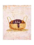 Basket with Wool and Spindle  C45-69