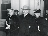 Vice President-Elect Harry Truman Arriving for President Franklin Roosevelt's 4th Inauguration