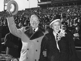 President Harry Truman and First Lady Bess Truman at the Army Navy Football Game