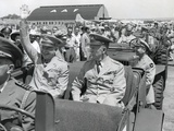 Generals Dwight Eisenhower and George Marshall Sitting in a Jeep at a Washington DC Airport