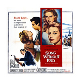 Song Without End  Right: Dirk Bogarde; Insert from Top: Genevieve Page  Capucine  1960