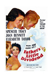 Father's Little Dividend  from Top: Joan Bennett  Spencer Tracy  Don Taylor  Elizabeth Taylor  1951