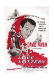 The Love Lottery  Center: David Niven; Below Left: Peggy Cummins  1954