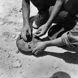 Two Italian Soldiers Disarming a Land Mine in the Axis Occupied Zone of Egypt  1942