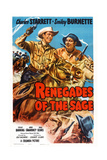 Renegades of the Sage  from Left: Charles Starrett  Smiley Burnette  1949