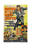 Drums in the Deep South  from Top: James Craig  Barbara Payton  Guy Madison  1951