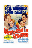 Week-End in Havana  from Left: John Payne  Alice Faye  Carmen Miranda  Cesar Romero  1941