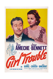 Girl Trouble  from Left: Don Ameche  Joan Bennett  1942
