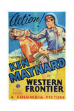 Western Frontier  Right: Ken Maynard  1935