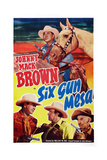 Six Gun Mesa  Top and Bottom Left: Johnny Mack Brown  1950
