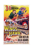 Wings of the Hawk  Top from Left: Van Heflin  Julie Adams  Abbe Lane (Bottom)  1953