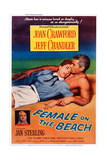 Female on the Beach Art: from Left: Joan Crawford  Jeff Chandler: Left Insert: Jan Sterling  1955