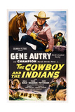 The Cowboy and the Indians  Top Center: Gene Autry  1949