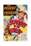 Sunset in the West  Roy Rogers  1950